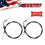2 Throttle Cable For 2-stroke 49cc 60cc 66cc 80cc Engine Motorized Bicycle Bike