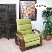 Made In Usa Rattan Recliner Chair 2-pack