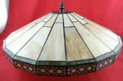 Spectrum Style Stained Cut Glass Inverted Pendant Hanging Ceiling Light