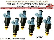 6x New Fuel Injectors Oem Bosch For 1989-1997 Ford Thunderbird 3..8l V6