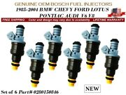 6x New Fuel Injectors Oem Bosch For 1989-1997 Ford Thunderbird 4.6l V8