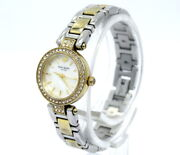 Live Colorfully Kate Spade Ny Crystal Bezel Mop Two Toned Quartz Watch