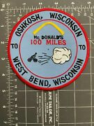 Vintage Oshkosh Wisconsin To West Bend Wi Mcdonald's 100 Miles Bicycle Cycling