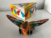 Vintage Louis Marx Mechanical Somersaulting Butterfly W/ Original Box