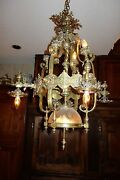 Bronze Gorgeous French Antique Chandelier Light C 1880 High Quality Classy