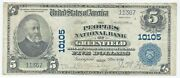 1902 5 Greenfield Oh Plain Back Fr. 602 The Peoples Nb Ch 10105 Xf Ef Pb
