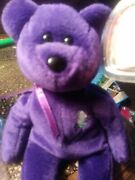 Rare 1st Edition 1997 Ty Princess Diana Beanie Baby, Made In China, P.e. Pellets