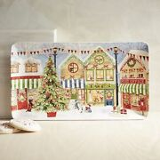 Christmas Village Serving Platter Cookie Tray Dish New Pier 1 Ironstone