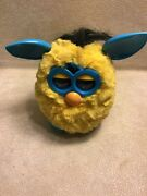 Furby Lighting Zap Yellow Teal 2012 Hasbro Interactive Toy Preowned