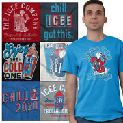 Official Icee Logo Chill 2020 Election Gift Adult Short Sleeve Crewneck Tee