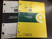 265 Farm Loader Used John Deere Operators Manual And Pre Delivery Instructions
