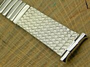 Craftex Vintage Nos Unused Stainless Steel Center Expansion Watch Band 15mm-21mm