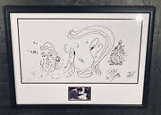 Peter Criss Autographed Artwork Hand Sketch Kiss Signed Simmons Stanley Ace Rare
