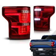 2x Red Clear Full Led Tail Lights Rear Lamps Assembly For 15-17 Ford F-150 F150