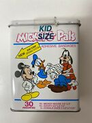 Vintage Sealed Mickey Mouse And Pals Band Aid Tin Very Rare Disney Collectible