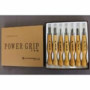 Mikisyo Power Grip Wood Carving Tool Kit 7pcs 800077 From Japan