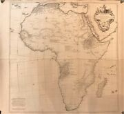 Africa.anville J B.original Wall Map Of The Continent.paris 1749