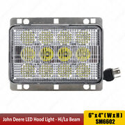 4x6 60w Led Headlights High Low Beam Fits Agco Allis And White Series Tractors X1p