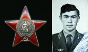 Soviet Russian Medal Order Of The Red Star Afghanistan Researched Mi6 Helicopter