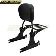 Rear Passenger Detachable Seat Sissy Bar Luggage Rack For Harley Dyna Fxd 06-up