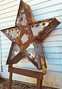 50s Custom-made Huge 2-sided Light Up 5-pointed Star Marquee Advertising Sign
