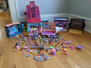 Littlest Pet Shop Lot Lps Playset Over 60 Figures And Accessories