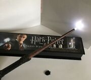 Harry Potter Light Up Wand Noble Collection Illumintating Tip Interactive Boxed