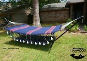 Ingalex Hammock With Wooden Spreader Bar And Hanging Strap American Styles