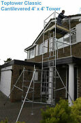 Diy Scaffold Tower 6.45m Wh 4x4 For Sloping Flat Roof Dormer Window Access