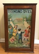 Antique Diamond Dyes Advertising Cabinet