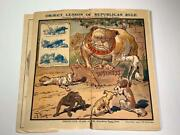Original 1908 Campaign Textbook Democratic Party Not Afraid Of The Bite