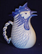 Jugs And Pitchers - Blue And White Porcelain Chicken Pitcher