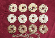 Mini Wreaths Bird Seed Feeders Donuts Bagels Ornaments - 8 Boxed - Ships Free
