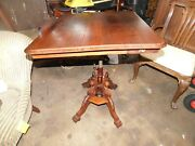 Museum Quality Victorian Walnut Folding Table Drafting Clowes And Gates Hi End