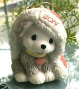 Precious Moments- 2014 Dated Dog Ornament - Wishing You A Cozy Christmas