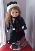 1998 Crowne Fine Porcelain Dolls Ruby Doll 16 Red Hair New