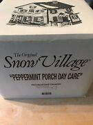 Dept. 56 Snow Village Peppermint Porch Day Care - 54852 Retired 1995-1997