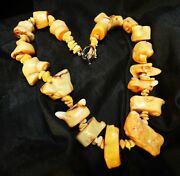Treasure Rare Very Old Tibet Pink Corals Fossil Chunks Necklace / Coins