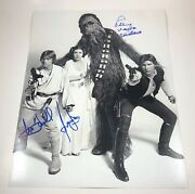 Harrison Ford Mark Hamill Peter Mayhew Signed Autographed Star Wars 11x14 Photo