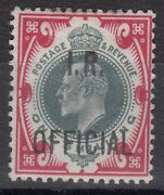 G.b. Sgo24 1902 1/= Green And Carmine Inland Revenue Ovpt - Mounted Mint-cat Andpound3750