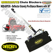 """Qwikchute Deck Deflector For Gravely Pro-stance Mowers With 36"""" Decks Nqd-gps36"""