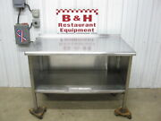 48 Stainless Steel Heavy Duty Kitchen Cabinet Work Table 4'