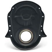 Proform Timing Cover 141-219 Chevrolet Bowtie Black Crinkle For 396-454 Bbc