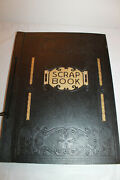 Vintage Greeting Card Scrapbook - 1940's- About 50+ Cards Glued In Mother Cards