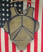 Vintage 1930s Baseball Catchers Chest Protector Guard Pads Antique Hockey Goalie