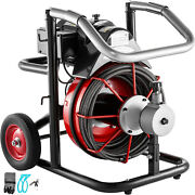 100ft X 3/8in Drain Cleaning Machine Drum Auger Drain Cleaner 370w Plumbing Tool