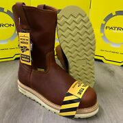 Menand039s Steel Toe Work Boots Pull On Safety Genuine Leather Oil Resistant 109 Bro
