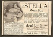 Vintage Ads Clipped From 1899 Frank Leslie's Popular Magazine - Stella Music Box