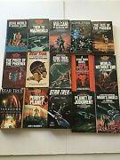 Lot 15 Star Trek 60's 70's 80's Paperback Novel Collectible Books New Old Stock