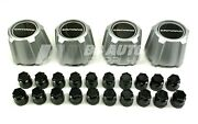 Silver 15 Wheel Center Caps And Black Lug Nut Covers New For 82-92 Chevy Camaro